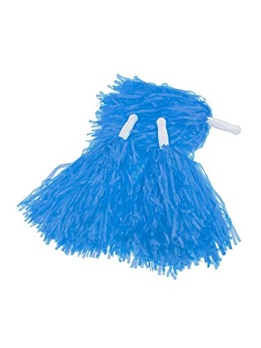 Pangda 12 Pack Cheerleading Pom Poms Sports Dance Cheer Plastic Pom Pom for Sports Team Spirit Cheering (Blue)