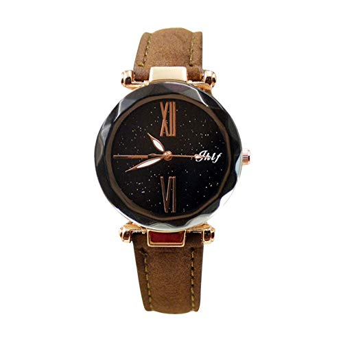 Pocciol 2019 Luxury Watch Womens Casual Watch with Leather Strap Band Analog Quartz Starry Sky Wristwatch for Ladies (Brown) by Pocciol Cheap-Nice Watch (Image #5)
