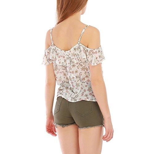 La Modeuse - Camiseta sin mangas - para mujer Beige