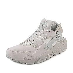 Nike Men Air Huarache Run Premium (Neutral Grey Neutral Grey) Size 11 Us