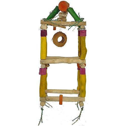 Medium Hanging Double Tower ? 11.8? x 27.5? Java Wood