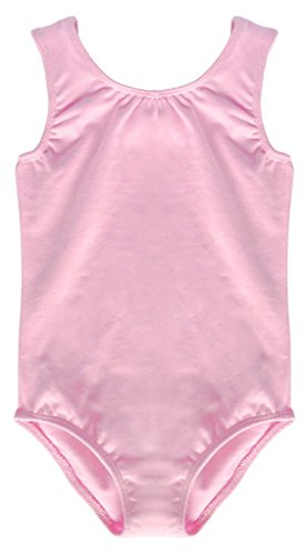 [Dancina Leotard Tank Top Outfit for Girls Ballet Dance Recital Class and Performance 5 Light Pink] (Cheerleader Outfit For Girls)