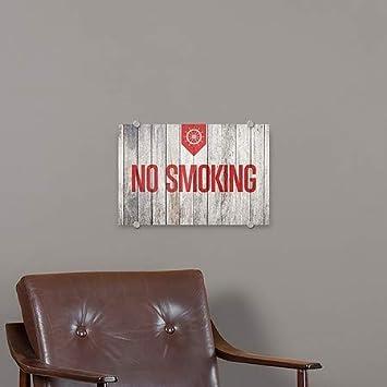 Nautical Wood Premium Brushed Aluminum Sign 5-Pack 18x12 No Smoking CGSignLab