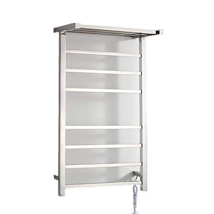Pared de acero inoxidable eléctrico calentador de toallas de riel / radiador de baño / calentador