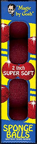 Red Magic Sponge Balls – 2″, Super Soft By Gosh