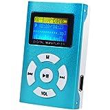 Mini Perman Portable USB 2.0 LCD Screen Metal MP3 Music Player Support 32GB Micro SD TF Card Blue