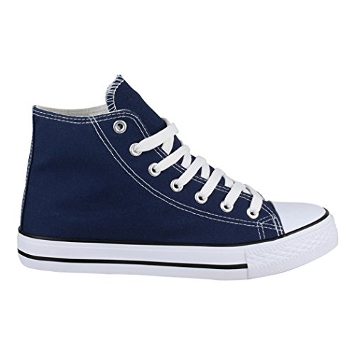 nbsp;– Loisirs nbsp;Zapatos nbsp;Unisex Blue Zapatos Standard de Sneakers de Elara nbsp;– Deporte High Top Tejido wYq4Xg7