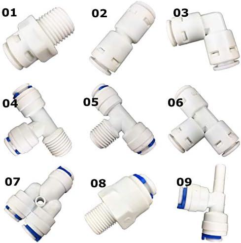 NO LOGO Partes purificador Tubo Manguera 1pc Agua Quick Accesorios de tubería de conexión RO Conector