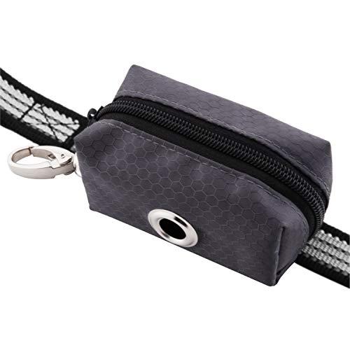 (Kulmeo Poop Bag Dispenser Dog Poop Bag Holder Dog Waste Bag Dispenser for Leash Durable NO Stuck (Grey))
