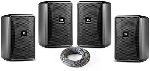 - JBL Control 23-1 Ultra Compact 3 inch Two Way Vented Loudspeaker Bundle with Installation Wire - Contractor 4-Pack (5 items) (Black)