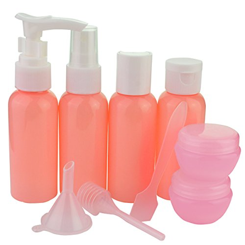 Jmkcoz-9pcs-Empty-Travel-Bottles-Portable-Refillable-Small-Bottles-for-Makeup-Toiletries-Liquid-Containers-Leak-Proof-Pink