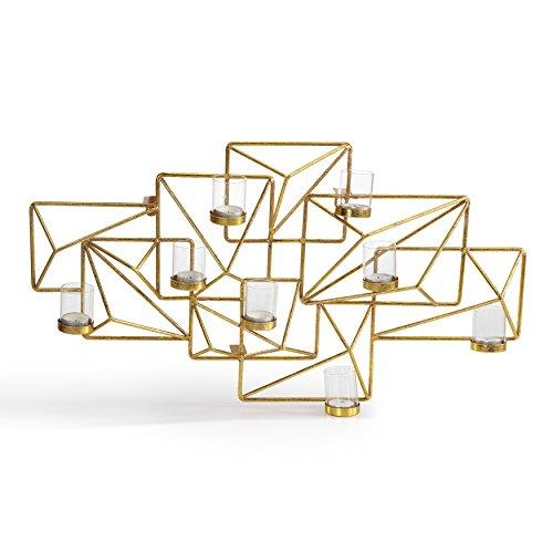(Danya B. Sparkling Gold Geometric Candle Wall)