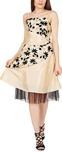 Satin Champagner Abschlussballkleid Essence BlackButterfly 'Sia' ZxIwt5