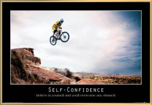 Motivational Poster and Frame Plastic - Self-Confidence, Believe In Yourself And You ll Overcome