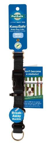 Premier Pet Pet KeepSafe 3/4-Inch Medium Break-Away Dog Collar, Black, My Pet Supplies