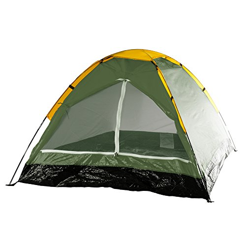 - 2-Person Tent, Dome Tents for Camping with Carry Bag by Wakeman Outdoors (Camping Gear for Hiking, Backpacking, and Traveling) - GREEN