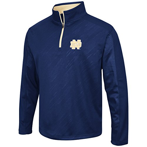 Notre Dame Irish Jacket - Colosseum Men's NCAA Sleet Embossed 1/4 Zip Jacket-Notre Dame Fighting Irish-Medium