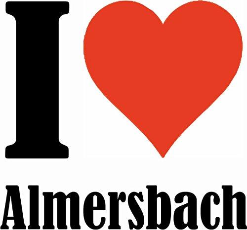 """Handyhülle iPhone 4 / 4S """"I Love Almersbach"""" Hardcase Schutzhülle Handycover Smart Cover für Apple iPhone … in Weiß … Schlank und schön, das ist unser HardCase. Das Case wird mit einem Klick auf deine"""