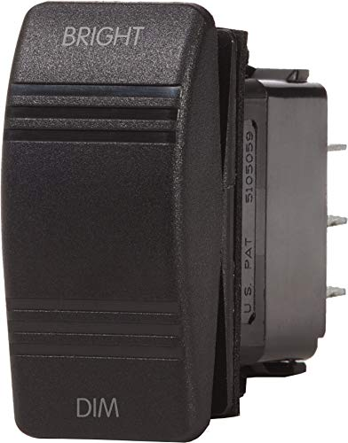 Blue Sea Systems Contura Dimmer Control (ON)-OFF-(ON) SPDT Switch, Black ()