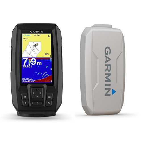 (Garmin Striker Plus 4 with Dual-Beam transducer and Protective Cover, 4 inch Screen 010-01870-00)