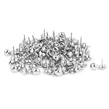 uxcell® Home Furniture Sofa 7/16-inch Dia Iron Upholstery Tack Domed Nail Silver Tone 150pcs