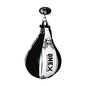 AQF Leather Speed Ball /& Swivel Boxing Punch Bag MMA Training Set Multi...
