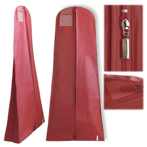Hangerworld Burgundy Showerproof Dress Cover