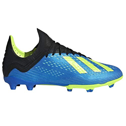 adidas X 18.1 Youth FG Soccer Cleats (6), Football Blue / Solar Yellow / Core Black