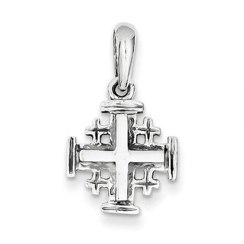 Icecarats Créatrice De Bijoux Or Blanc 14K Charme Jerusalem De Croix