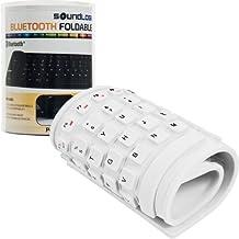 Sound Logic Roll-up Portable Flexible Bluetooth Keyboard - White (72-5514WHI)