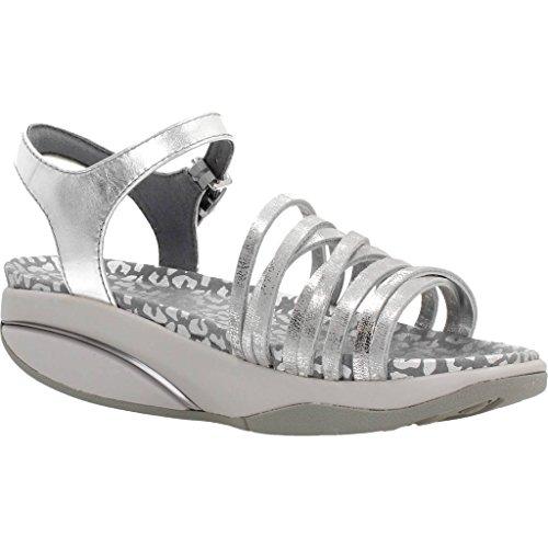 Mbt Kvinder Kaweria 6 W Sandal Slingback, Sølvgrå