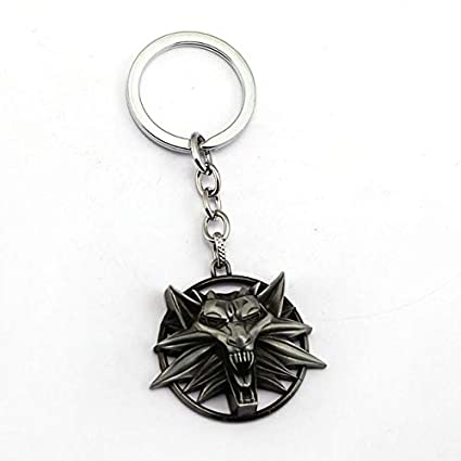 The Witcher 3 Keychain Wild Hunt Forma de Lobo Llavero ...
