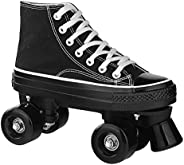Houtclort Roller Skates for Women Men Cozy High-top Roller Skates for Beginner Double-Row PU Wheels, Professio