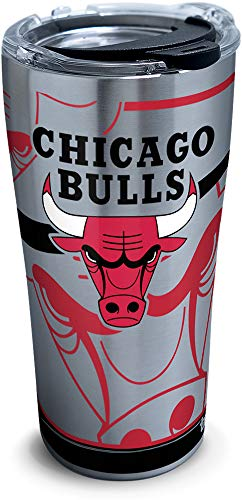 Tervis 1280918 Nba Chicago Bulls Paint Stainless Steel Tumbler, 30 oz, Silver by Tervis