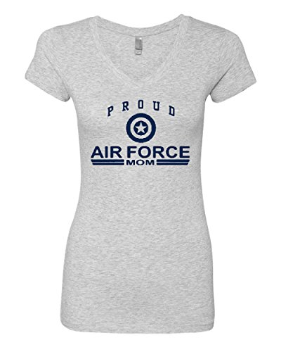 Proud Air Force Mom V-Neck T-Shirt US Air Force USAF Gray 2XL