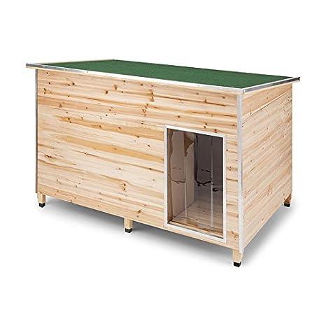 Oneconcept Schloss Wuff XL • Caseta de protección para Perro • Paredes de Madera con Aislante