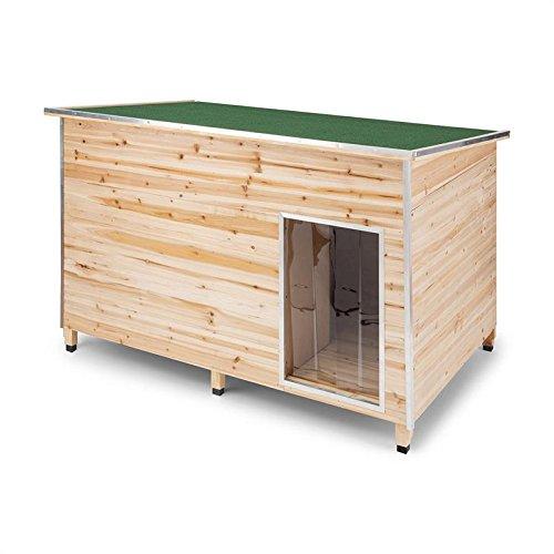 Oneconcept Schloss Wuff XL • Caseta de protección para Perro • Paredes de Madera con Aislante • Cantos protegidos • Resistente Lluvia • Casa de Mascotas ...