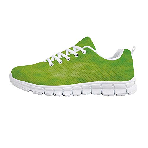 YOLIYANA Lime Green Jogging Running ShoesCloudy Shade of Color Pastel Toned Hazy Backdrop Irish Tones Artistic Digital Sneakers for Girls Womens,US 12