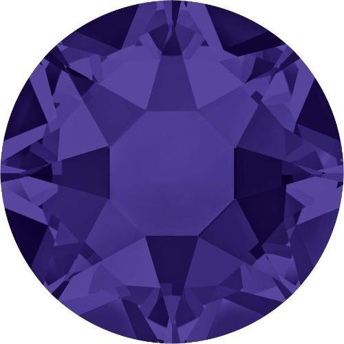 Flat Back Crystal Purple Velvet (2000, 2038 & 2078 Swarovski Flatback Crystals Hotfix Purple Velvet | SS16 (3.9mm) - Pack of 100 | Small & Wholesale Packs | Free Delivery)