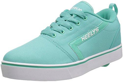 Image of Heelys Girls' GR8 Pro Tennis Shoe, Aqua/White, 3 Medium US Big Kid