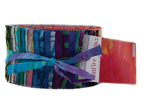 Batik Strips (Bonfire Batiks Jelly Roll 40 2.5-inch Strips Moda Fabrics 4346JR)