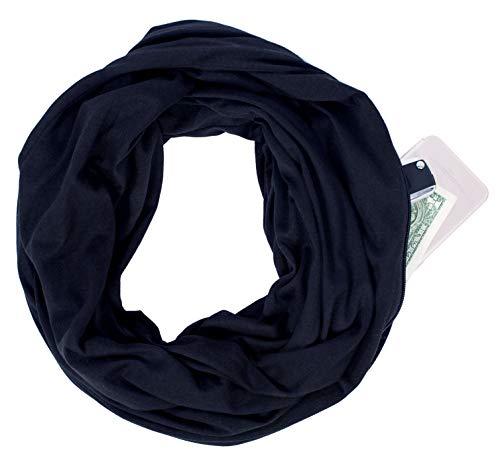 Infinity Scarf Pocket Travel Wrap Sport Gift for Lipstick Phone Friend Gym Shawl