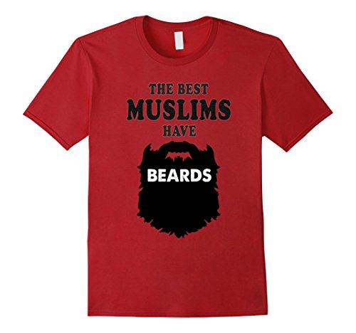 Mens bearded Muslim costume tshirt, beards gift, Islam face tees Large - For Long Face Beard