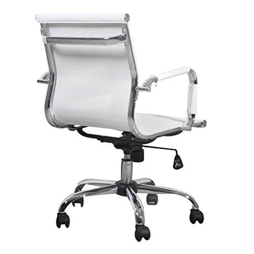Sedia ufficio pelle girevole Milano, bianca | Sedie