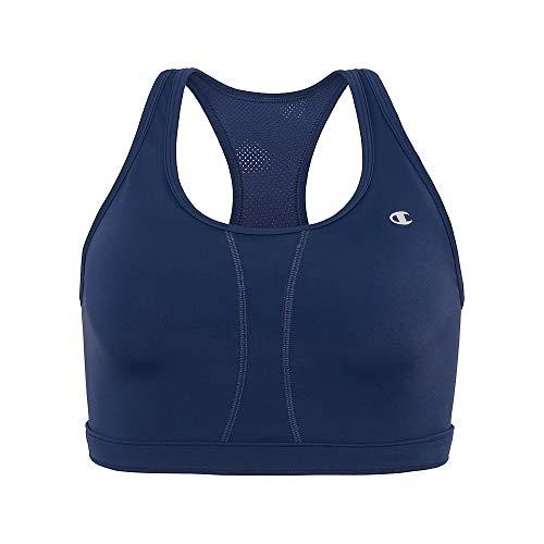 Champion Women's Plus-Size Vented Compression Sports Bra, Imperial Indigo