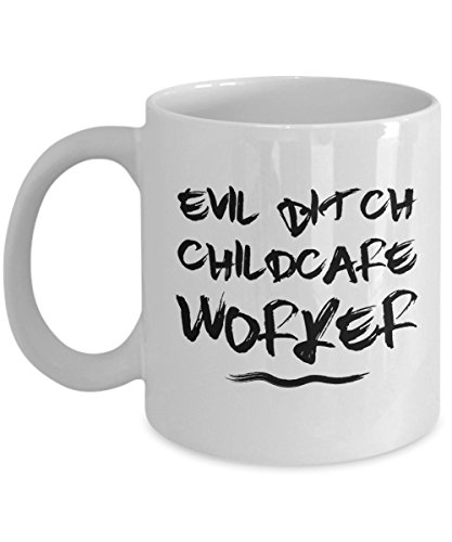 Evil Bitch Childcare Worker, 11Oz Coffee Mug for Dad, Grandpa, Husband From Son, Daughter, Wife for Coffee & Tea (Pinterest Costumes For Adults)