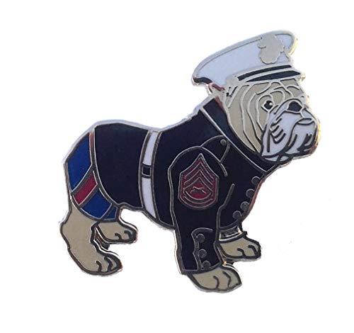 U.S. Marine Corps Bulldog Dressed Military Veteran Hat Pin P12661 EE