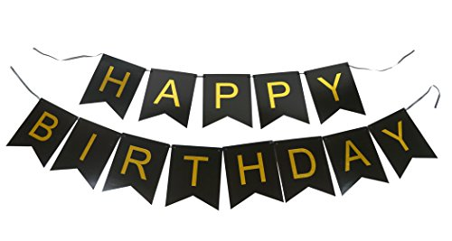 PoshPeanut-Black-and-Gold-Happy-Birthday-Bunting-Banner-Decoration-for-Parties-Perfect-for-21st-30th-40th-50th-Birthday-Party-Supplies
