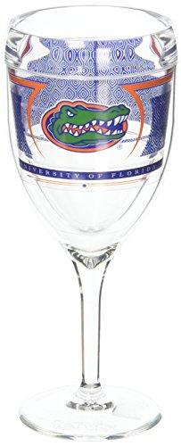 (Tervis 1230361 Ncaa Florida Gators Reserve Wine, 9 oz, Clear)