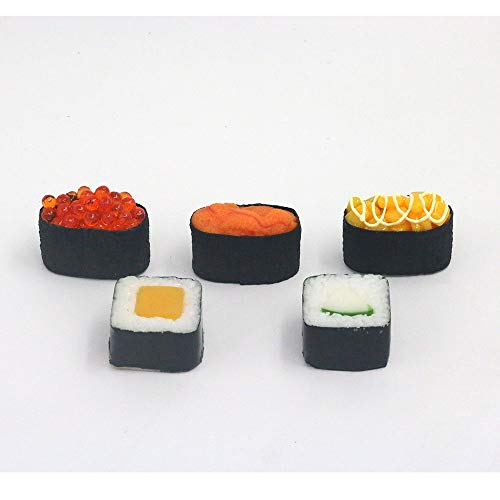 - Nice purchase Artificial Sushi Sample Fake Food Simulation Realistic Lifelike Nigiri Onigiri Dessert for Decoration Display Toy Props Model Rice Roll